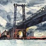 Puente y tormenta