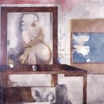 Dos pinturas en un interior